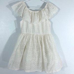 Ivory Ruffle Dress